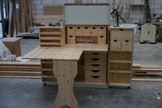 Larder Cupboard, Craft Cupboard, Kitchen Pantry, Small Sewing Rooms, Armoire, Palette, Handmade Furniture, Diy Furniture, Bedroom Furniture