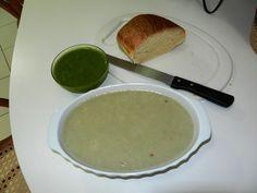 Ingredientes para a sopa 4 inhames 500 ml de caldo de legumes 1 litro de água 1 dente de...