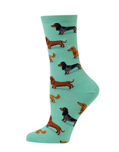 <ul><li>Adorable dachshund prints highlight these socks</li><li>Cotton/polyester</li><li>Machine wash</li><li>Imported </li></ul>