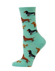 <ul><li>Adorable dachshund prints highlight these socks</li><li>Cotton/polyester</li><li>Machine wash</li><li>Imported </li></ul>