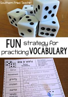 Looking for an easy and fun teaching idea for your students to practice their vocabulary words? My students loved it and never realized they were learning! This strategy can work for any grade from kindergarten to high school! Vocabulary Strategies, Vocabulary Instruction, Teaching Vocabulary, Vocabulary Practice, Vocabulary Activities, Teaching Strategies, Teaching Science, Vocabulary Words, Teaching Reading