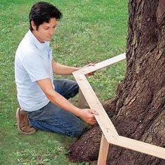 How to Build a Tree Bench step by step...