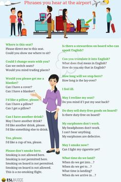 Common Phrases You Hear at The Airport – ESLBuzz Learning English Common Phrases You Hear at The Airport 14 English Speaking Activities, English Learning Spoken, Learn English Grammar, English Language Learning, Learn English Words, English Writing, English Study, Teaching English, French Language