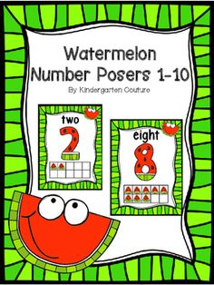 There are 11 number posters to go along with my Watermelon Theme Products. These posters have the number, number word,  and ten frame in a watermelon theme.  See thumbnails. Watermelon Word Wall & 200 Fry Words -EditableWatermelon Number PostersWatermelon Color PostersWatermelon Shape Posters And Cards