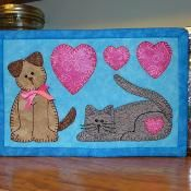 Cat & Dog Mug Rug - Pet Mini Quilt - via @Craftsy