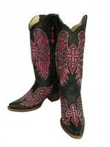 Corral Pink Cross & Wing Boots w/ Stones I found my boots