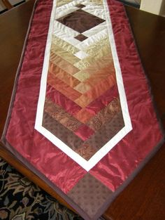 Quilted Table Runner Tutorial.....THIS PINNER HAS TONS OF BEAUTIFUL QUILTS, CHECK IT OUT