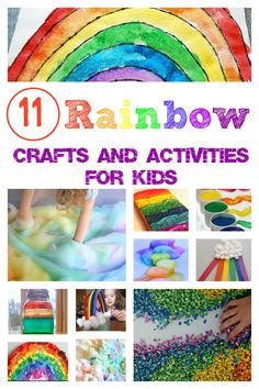 Rainbow Crafts and Activities for Kids - Crafts on Sea Put a smile on everyone's faces with these gorgeous rainbow crafts and activities for kids. Perfect for St Patricks Day or whenever you need a lift!