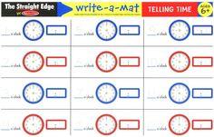Telling Time Write-A-Mat #Disney