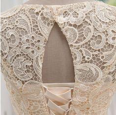 Material: Tulle, LaceColor: ChampagneSize: S,M,L,XL,XXLStyle:Occasion DressesS: Bust: 80cm, Waist:63cmM: Bust: 83cm, Waist:66cmL: Bust: 87cm, Waist:70cm<p>XL: Bust: 90cm, Waist:74cm</p><..