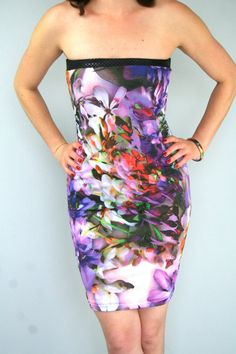 Hot summer strapless dress in floral print  slip in by Bartinki