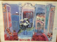 "Lot 635 - Raoul Dufy print ""Interior with Open Win"