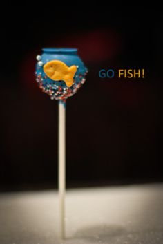 Fish tank cake pop. Cute!