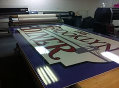 Brooklyn Diner sign ready just after printing. #globaltechnj #globaltech