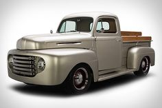 There are times when a restomod doesn't do the original justice, and then there are those that are able to gentrify a vehicle without compromising its historic roots. This 1949 Ford Pickup Truck is one such example, mixing a. Antique Trucks, Vintage Trucks, Hot Rod Trucks, Cool Trucks, Crate Motors, Old Pickup, Classic Chevy Trucks, Classic Cars, Ford Pickup Trucks