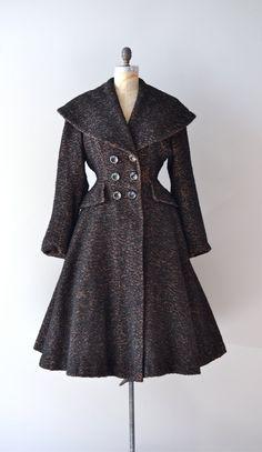 vintage 1950s Sturm und Drang wool princess coat - wadulifashions.com