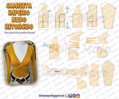 Collar Pattern, Top Pattern, Make Your Own Clothes, Diy Clothes, Dress Sewing Patterns, Clothing Patterns, Pattern Draping, Haute Couture Dresses, Latest African Fashion Dresses