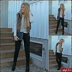 fall outfit, I need a fur vest