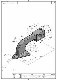Mechanical Engineering Design, Mechanical Design, Autocad Isometric Drawing, Cad 3d, Solidworks Tutorial, Cad Programs, Working Drawing, 3d Cad Models, Industrial Design Sketch
