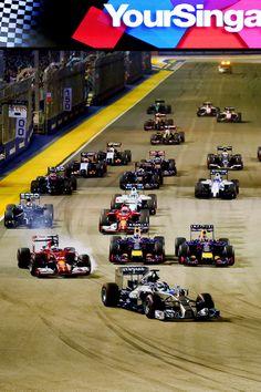 Start Line at the 2014 #F1 Singapore Grand Prix