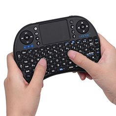 Wireless Android Keyboard ESYNiC 2.4GHz 3 in 1 Touchpad Mouse Keyboard Combo Mini KODI XBMC Keyboard Portable Perfect for PC Google Android Smart TV Tivo Box Mini TV PC Stick HTPC IPTV Laptop Raspberry PI PS3-Black Color
