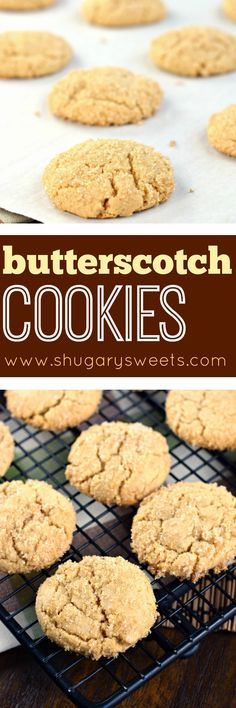 Chewy on the inside, crunchy on the outside, these Butterscotch Cookies only get better with time! You'll love the sugar coating! Easy Cookie Recipes, Best Dessert Recipes, Cookie Desserts, Fun Desserts, Sweet Recipes, Baking Recipes, Delicious Desserts, Yummy Food, Cookie Recipie