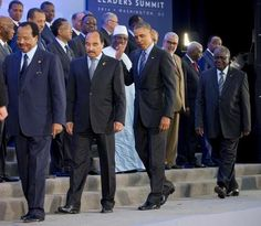 h/t PAT DOLLARD  Excerpted fromAmerican Thinker:Is President Obama a Muslim? A lot has  been written about this, but if photographs speak louder than words, then a  photo taken at last August's U.S.-African Leaders' Summit in Washington  D.C. might shed considerable light.  It shows Barack