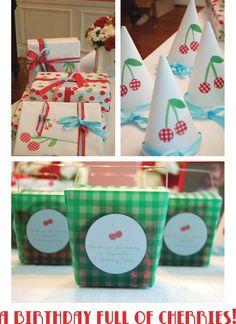 Cherry themed birthday party via Joya Logue