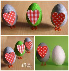 Pisanki na nóżkach / Running Easter Eggs DIY