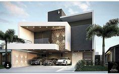 Our Top 10 Modern house designs – Modern Home House Gate Design, Villa Design, Facade Design, Exterior Design, Modern House Facades, Modern Architecture House, Architecture Design, Cool House Designs, Modern House Design