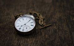 Hämta bilder Gamla fickur, tid begrepp, vintage klocka