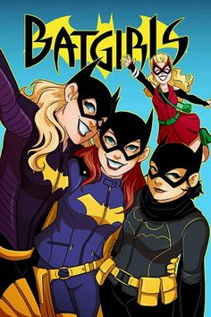 Batgirls Stephanie Brown, Barbara Gordon, Casandra Cain, Betty Kane