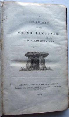 1803 Grammar of the Welsh Language, William Owen, 1st ed. in Books, Comics & Magazines, Antiquarian & Collectable | eBay