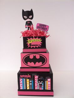 Hey, I found this really awesome Etsy listing at https://www.etsy.com/listing/194825666/batgirl-birthday-centerpiece