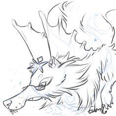 Quick doodle for KitKatJo over on FR #Dragon #FlightRising #art #doodle