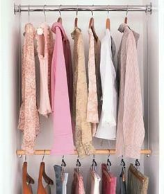 For more storage, try adding a hanging rod to your closet—they don't require a power drill or a professional.