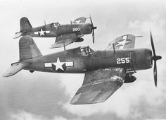 War History Online — F4U-1A Corsairs of Marine Squadron VMF-224 in...