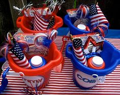 4th of July buckets for kids