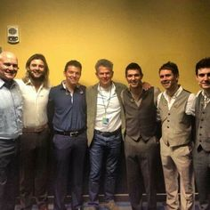 Last night Celtic Thunder lads with David Foster!!! ;-) {I was there and breathing the same air as Celtic Thunder...and David Foster....DAVID FREAKING FOSTER!!!}
