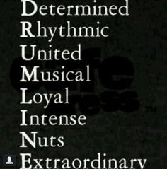 Drumline hmmm describes the people I know pretty well ;)