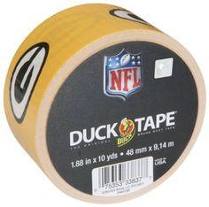 NFL Licensed Duck Tape® - Green Bay Packers http://duckbrand.com/products/duck-tape/licensed/nfl-licensed-duck-tape/green-bay-packers-188-in-x-10-yd?utm_campaign=nfl-duck-tape-general&utm_medium=social&utm_source=pinterest.com&utm_content=nfl-licensed-duck-tape