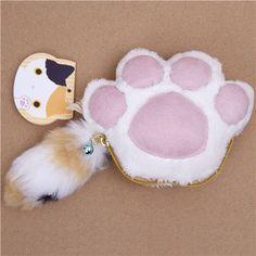 Cute fluffy cat paw wallet @modes4u