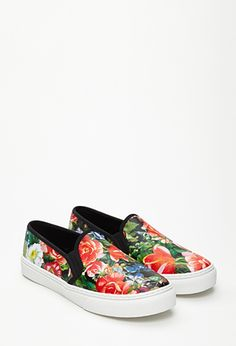 Hothouse Floral Slip-Ons | FOREVER21 | #stepitup