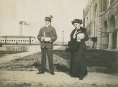 Thomas Lindsey Blayney, a German professor, and Nellie Mills, first woman to matriculate at Rice Institute, 1917