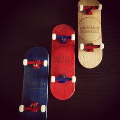 """""""#three is a #magic #number. #blue #red #natural #certifiedpopcrazy #ambitionfingerboarding #singaporefingerboardstore"""""""