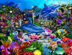Lost Undersea World Digital Art