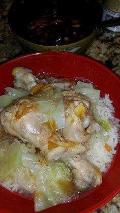 Chamorro Chicken Kadu Served with Fina'denne Sauce