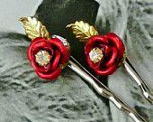 Eye Candy ~ Top Treasury Team - tt team, Bohemian Lovers, CrazyAdsTeam  Romantic Red Rose Hair-Bobby Pins, Vintage 1950's Vintage Repurposed