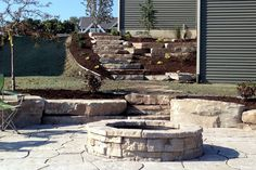 Retaining Wall Construction and Landscaping