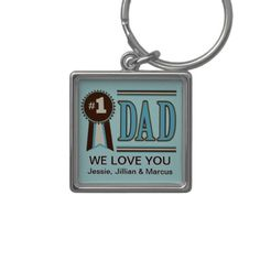 Custom Number One Dad's Father's Day Keychain.  $17.45